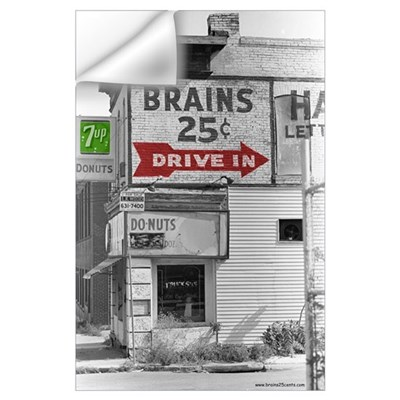 Small Brains 25 cents Wall Decal