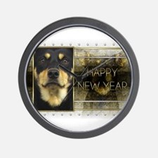 New Year - Golden Elegance - Kelpie Wall Clock