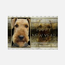 New Year - Golden Elegance - Airedale Rectangle Ma