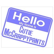 Blue - Hello Cutie McCrappypants Poster