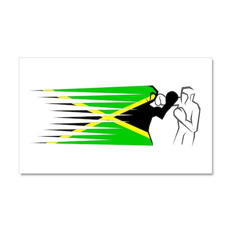 Boxing - Jamaica Car Magnet 20 x 12