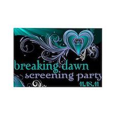 Breaking Dawn STD Teal STD Rectangle Magnet