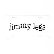 Jimmy Legs Aluminum License Plate