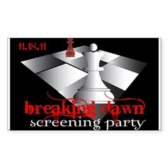 Breaking Dawn Screening Party Sticker (Rectangle)