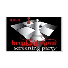 Breaking Dawn Screening Party 22x14 Wall Peel