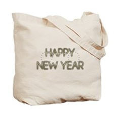 New Year - Golden Elegance - Afghan Tote Bag