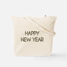 New Year - Golden Elegance - Afghan Tote Bag