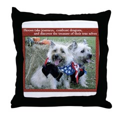 Cairn Heeroz Throw Pillow