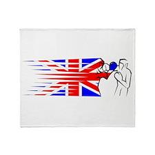 Boxing - UK Throw Blanket