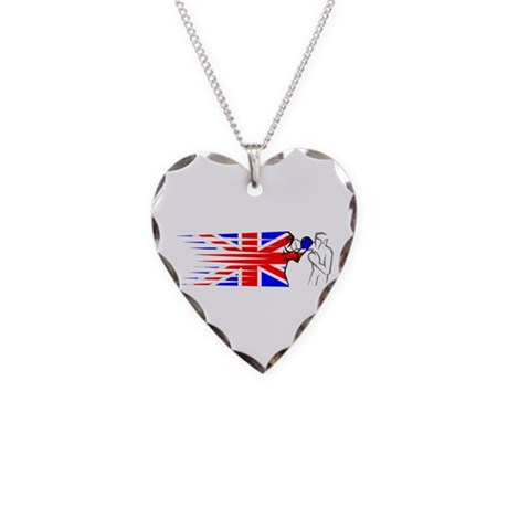 Boxing - UK Necklace Heart Charm