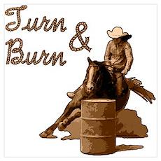Turn & Burn. Western Cowgirl. Poster