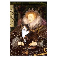 The Queen's Calico Cat (#1) Canvas Art