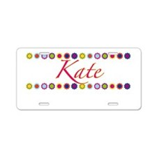 Kate with Flowers Aluminum License Plate