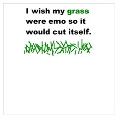 Emo cut himself Poster