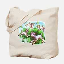 Cute Sheep Baby Lambs Tote Bag