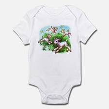 Cute Sheep Baby Lambs Infant Bodysuit