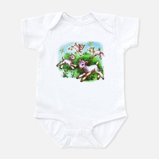 Cute Sheep Baby Lambs Infant Bodysuit