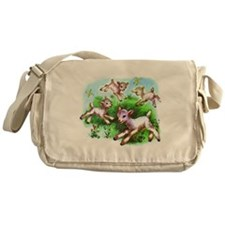 Cute Sheep Baby Lambs Messenger Bag