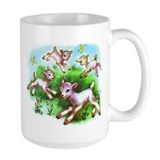 Cute Sheep Baby Lambs Mug