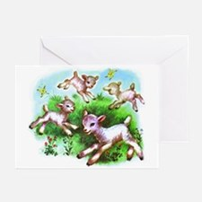 Cute Sheep Baby Lambs Greeting Cards (Pk of 20)