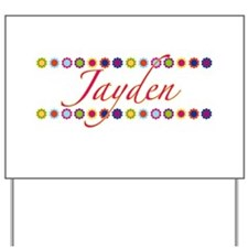 Jayden with Flowers Yard Sign