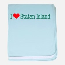 I Love Staten Island baby blanket