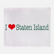 I Love Staten Island Throw Blanket
