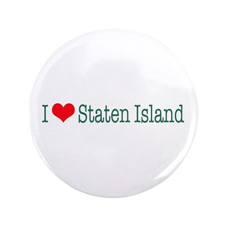 "I Love Staten Island 3.5"" Button (100 pack)"