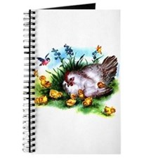 Mother Hen Yellow Chicks Journal