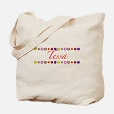Tessa with Flowers Tote Bag