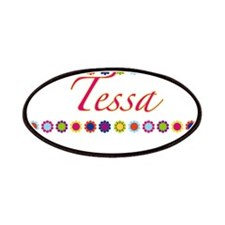 Tessa with Flowers Patches