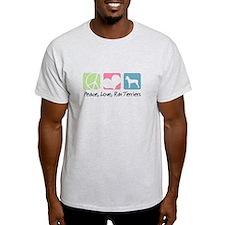 Peace, Love, Rat Terriers T-Shirt