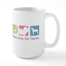Peace, Love, Rat Terriers Mug