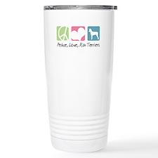 Peace, Love, Rat Terriers Travel Mug