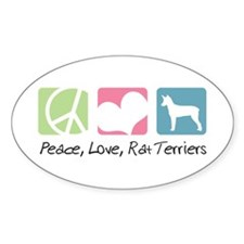 Peace, Love, Rat Terriers Decal