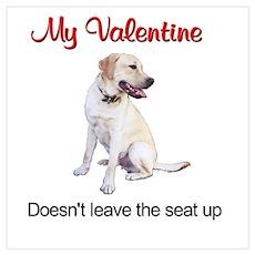 Labrador Valentine Poster