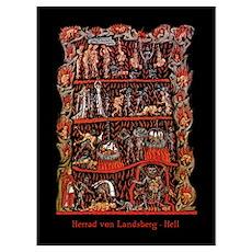 Herrad von Landsberg Hell Poster