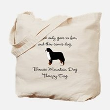 Bernese Therapy Dog Tote Bag