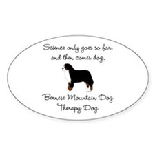 Bernese Therapy Dog Decal