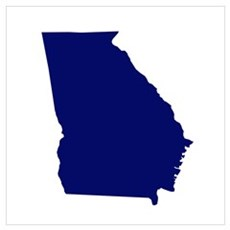 Georgia - Blue Poster