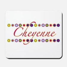 Cheyenne with Flowers Mousepad