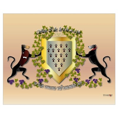Greyhound Coat of Arms C (small) Poster