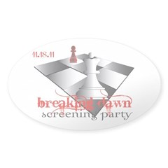 Breaking Dawn Screening Party Sticker (Oval)