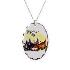 Cute Kitty Cat Kittens Necklace