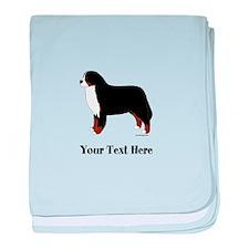 Berner - Your Text baby blanket