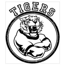 Tigers Team Mascot Graphic Poster