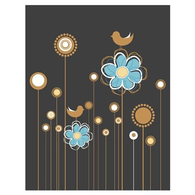 Trendy Floral Decor Poster