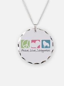 Peace, Love, Schipperkes Necklace