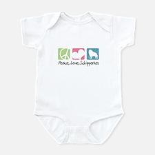 Peace, Love, Schipperkes Infant Bodysuit