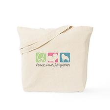 Peace, Love, Schipperkes Tote Bag